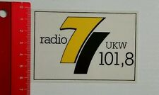 ADESIVI/Sticker: radio 7 VHF 101,8 (26081635)