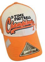 Tennessee hat Volunteers  NCAA New Stretch Fit 2 time Football Chamions Hat Cap