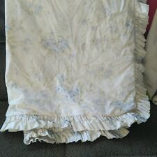 Rachel Ashwell Simply Shabby Chic Blue BRITISH ROSE Ruffle Queen Duvet Cottage