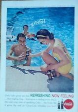 Coca Cola Picture national geographic back cover Zing REFRESHING NEW FLAVOR