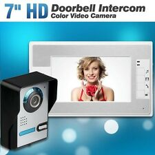 """Wired 7"""" Color Video Door Phone Doorbell Intercom Security System with 1 Monitor"""