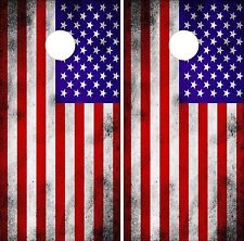 American Flag  Cornhole Board Game Decal Wraps Vinyl Sticker USA