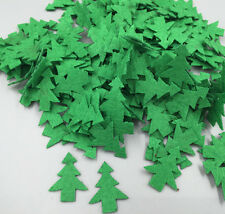 200pcs Padded Felt Green Christmas Tree Appliques Decorative Craft 25mm