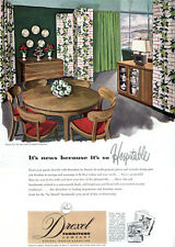 Drexel Precedent Collection EDWARD WORMLEY Dining Room CHAIRS 1949 Print Ad