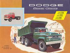 1958 Dodge Power Giants Truck Brochure T700/T800/T900