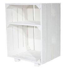 1x weißer Nachttisch mit Boden,Beistelltisch, Nachtschrank,Obstkiste
