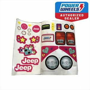 Power Wheels 3900-6537 Disney Princess Label Decal Sheet Jeep FRC34  Genuine
