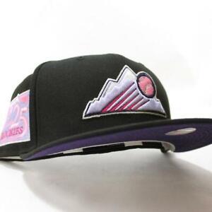 ECapCity Exclusive Blk Colorado Rockies 25th Anniversary Patch Purple UV  7 3/8