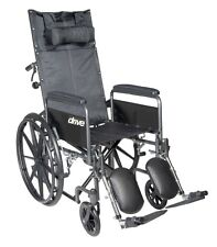 Silver Sport Reclining Wheelchair W/Full Arms & Elevating Leg Rest, 20Inch Seat