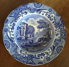 Antique Copeland Spode Soup Bowl Blue & White Italian Landscape Scene Pottery