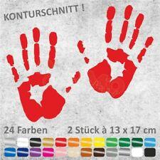 HANDABDRÜCKE Hände Hand Autoaufkleber JDM Sticker Aufkleber 13 x 17 cm