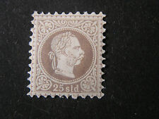 Austria, Scott # 32a, 25kr. Value Brown Violet 1867-72 Coat Of Arms Issue Mlh