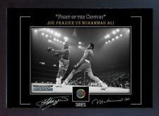 Muhammad Ali Joe Frazier photo poster print signed autograph Framed (MDF)