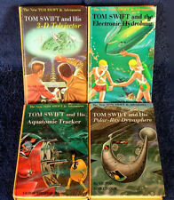TOM SWIFT - 3-D TELEJECTOR, HYDROLUNG, AQUATONIC, POLAR - (4) HARDBACKS - 1960'S