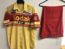 Vintage 80s Kodak Racing Pit Crew Uniform Race Used Large Rare See Description