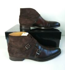 Magnanni Octavian Brown Leather Ankle Boot Monk Strap Mens 9.5 US 17336 B100