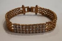 Vintage Gold Plated Plated Diamante Bracelet