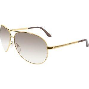 Tom Ford Charles Aviator Sunglasses FT0035 772 62 Brown Lenses Gold Frames 62