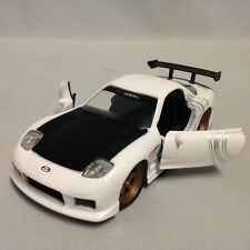 "1993 Mazda RX-7 JDM Tuners, 5.25"" METALS Die Cast Pull Back 1:32 Jada Toy White"