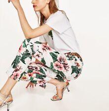 Zara Women Floral Print Trousers Size 6 NWT