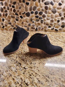 Sole Society Suede Heeled Mules - Caribou-Black-8 1/2M