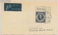 royalty   - POSTAL HISTORY -  NIUE: card to USA 1948