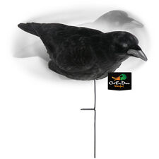 NEW LUCKY DUCK 3 PACK OF LIFE-SIZED FLOCKED CROW DECOYS WITH MOTION STAKES