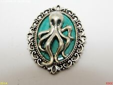 steampunk jewellery brooch badge pin octopus kraken pirate nautical sea ocean