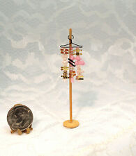 Dollhouse Miniature Handcrafted Girl's Pink Accessory Display by Cheryl Warder