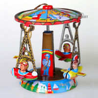 Christmas Tree Tin Ornament Carousel Airplaine Collectable Hanging Decoration
