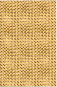 REPRODUCTION of Vintage Blotter art street sheets: Flying keys Yellow