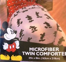 "Mickey Mouse Twin Comforter - Grey - 64"" X 86"" NEW!"