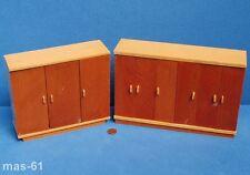 2 armarios madera 1:12 casa de muñecas muñecas Tube armario ropero armario Vintage