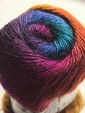 (1) 100 gram Alpaca Active Yarn #58422 Molten Jewels Fine Sport Weight 601yds