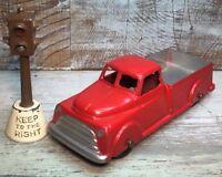 "VTG '50 Diecast TOOTSIETOY 4"" Dodge Pickup Truck Red Body (BRW)"