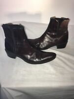 Jeffrey West Mens Brown Chelsea Ankle Leather Boots Size 40 Ref Ba19