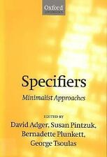 Specifiers : Minimalist Approaches (1999, UK-Paperback)