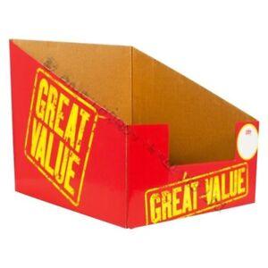 10 x Retail Display Cardboard Stand Shop Counter POS Sale Shelf Rack Boxes