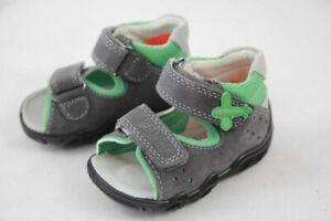 Superfit Jungen Minilette Lauflernsandale grau grün Flugzeug