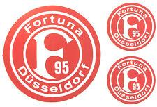 Fortuna Düsseldorf Aufkleber Sticker Set - 3 Logos Bundesliga Fussball #636