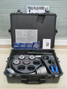 """Swagelok MHSU 1"""" - 2"""" Multi-Head Hydraulic Swaging Tool w/ Case Used"""