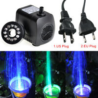800L/H LED Lights Brushless Motor Submersible Water Pump For Aquarium Fish