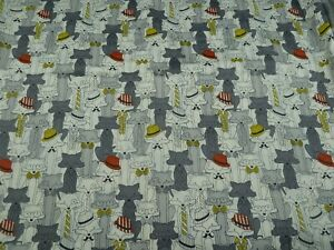 Cotton Fabric FQ - Foxes