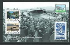 NEW ZEALAND 2016 CHRISTCHURCH STAMP AND POSTCARD EXHIBITION MS FINE USED