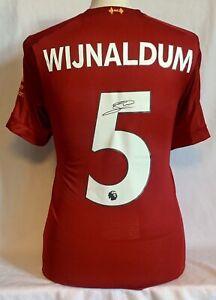 Georginio Wijnaldum Hand Signed Liverpool FC Football Shirt Bidding From £120