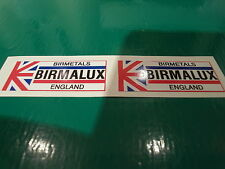 BIRMALUX rim decals. New artwork and & print from originals. VISCOUNT & LAMBERT