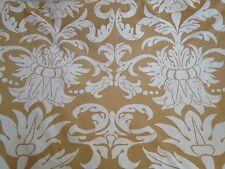 5 Metres Irish Linen Weave Alba Damask Design Quality Curtain Upholstery Fabric