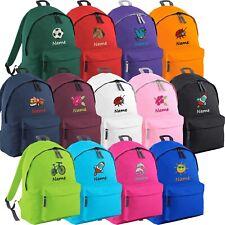 Kinderrucksack bestickt mit Namen + Motiv Kinder Tasche Rucksack Sport Freizeit
