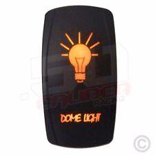 Rocker Switch LED Backlight Dome Light RV Toy Hauler Diesel Semi Truck Orange