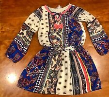Girls Truly Me Embroidered Print One Piece Dress With Lining Size 10